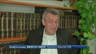 """Fine blocco dei licenziamenti, Maurizio Landini (Segretario Generale CGIL): """"Far in modo che le imprese ricorrano alla Cassa Ordinaria senza licenziare"""""""