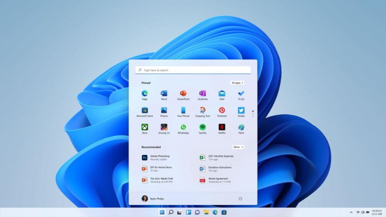 Le prime immagini di Windows 11