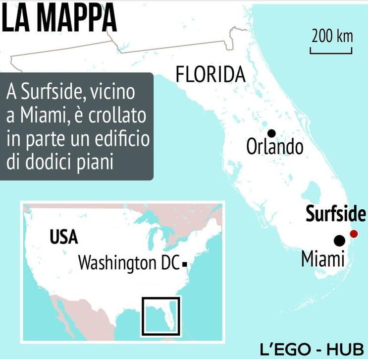 Surfside: ecco dove è avvenuto il crollo