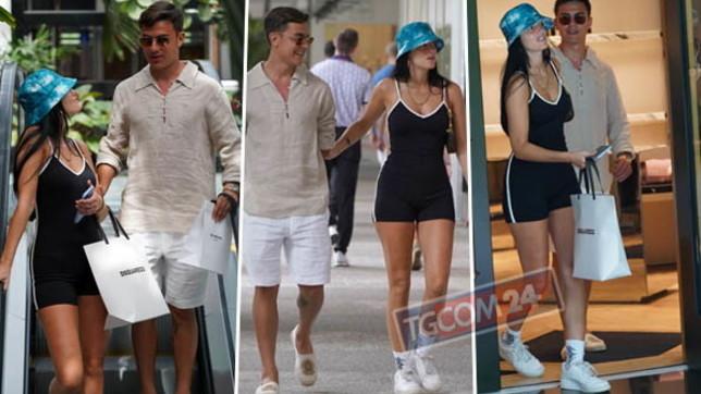 Paulo Dybala fa shopping con la fidanzata a Miami