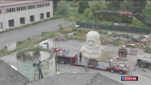 la statua di Leonardo torna a Pavia