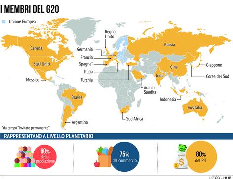 Ecco chi sono i membri del G20