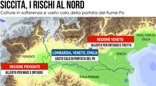 Siccità, è già rischio per il Nord Italia