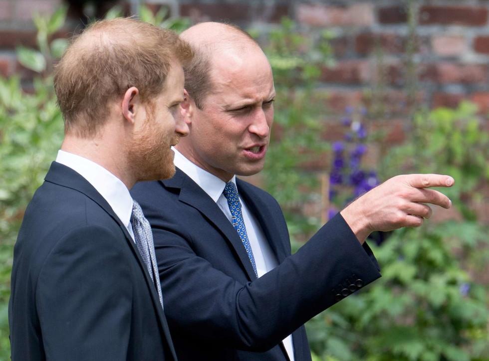 William e Harry di nuovo uniti nel nome di mamma Diana all'inaugurazione della statua