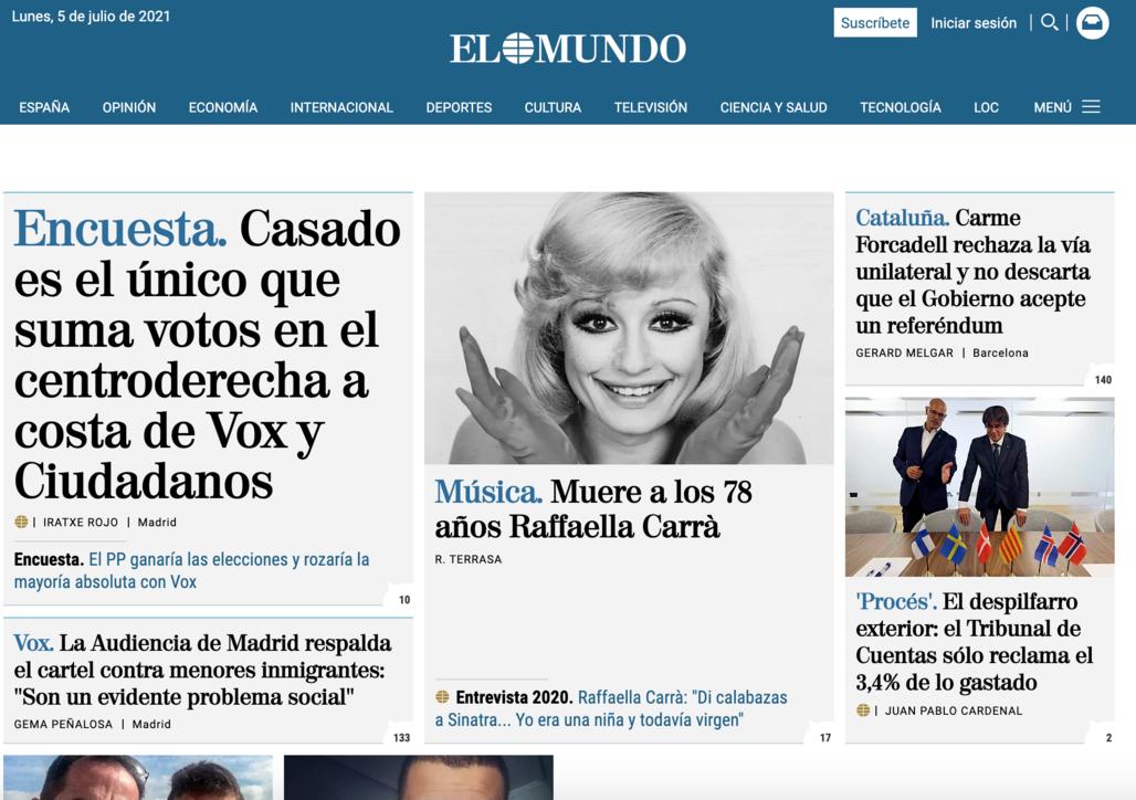 Addio a Raffaella Carrà, la notizia in Spagna (dove era amatissima) e inSudamerica