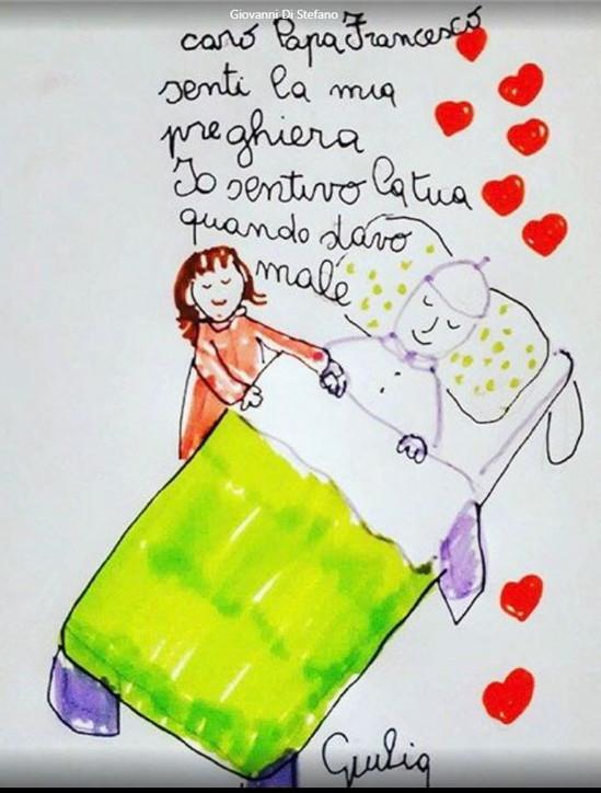 """""""Caro Papa Francesco, senti la mia preghiera"""": le lettere dei bambini ricoverati inOncologia al Gemelli"""