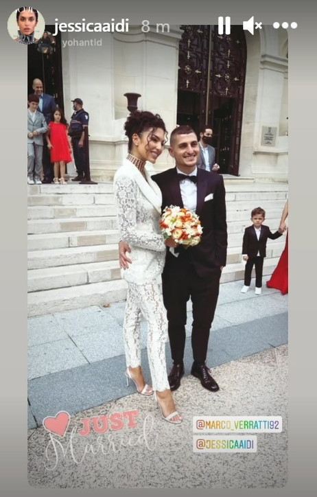 Marco Verratti e Jessica Aidi, le foto più belle