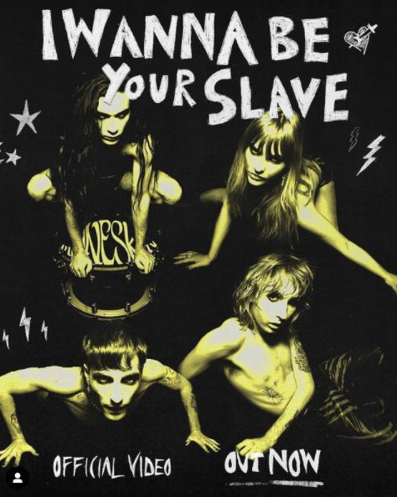 """Maneskin,tra provocazione e bondage: è online il video di """"I Wanna Be Your Slave"""""""