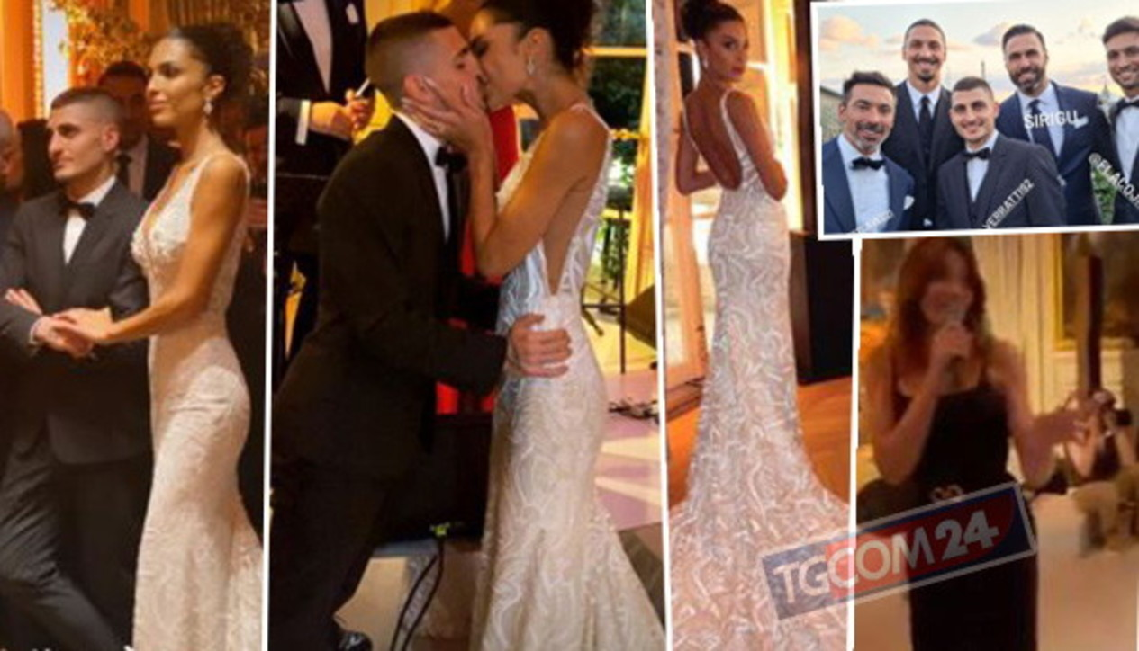 Per Marco Verratti e Jessica Aidi un party di nozze da sogno