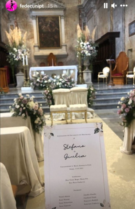 Stefano Sensi ha sposato Giulia Amodio: guarda le foto delle nozze