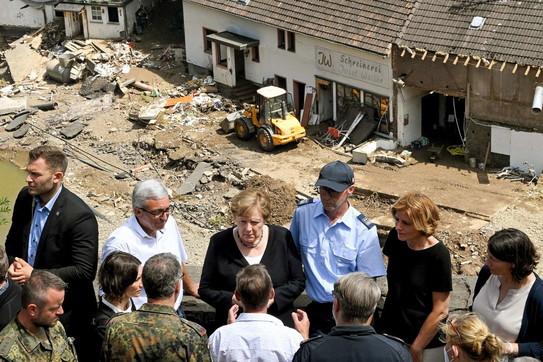 Maltempo in Germania, Angela Merkelvisita i luoghidelle alluvioni