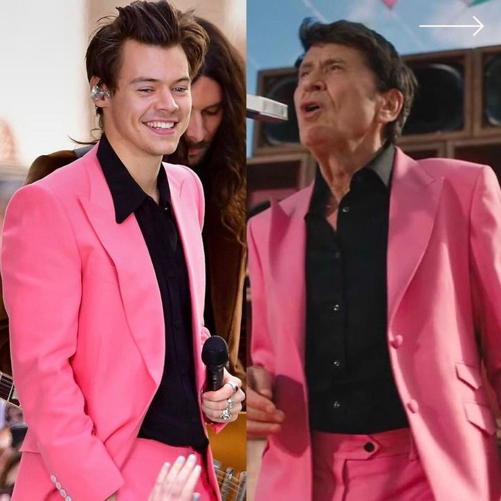 Gianni Morandi maestro di look per Harry Styles?