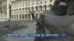 Breaking News delle 21.30   Balzo dei contagi, si decide sul green pass
