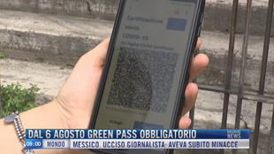Breaking News delle 09.00 | Dal 6 agosto green pass obbligatorio
