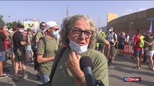 Licenziamenti Gkn, le proteste dei lavoratori