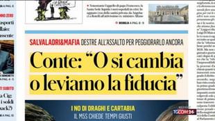 Giustizia, Conte cerca una mediazione con Draghi