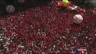 A Pamplona salta la controversa corsa dei tori
