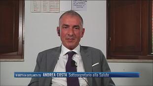 """Cambio colore regioni, Andrea Costa (Sottosegretario Salute): """"Terapie intensive occupate da non vaccinati"""""""
