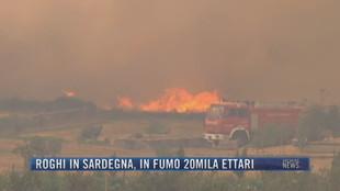 Breaking News delle 21.30 | Roghi in Sardegna, in fumo 20mila ettari