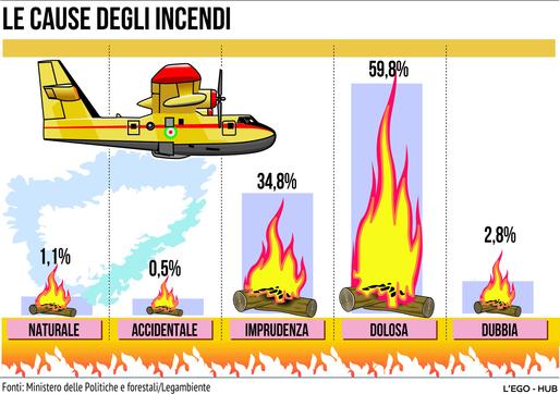 Dolosa o accidentale? Ecco le cause degli incendi in Italia