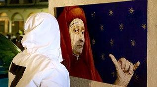 Gli affreschi padovani patrimonio Unesco:Evyreincelebra Giotto con un murale