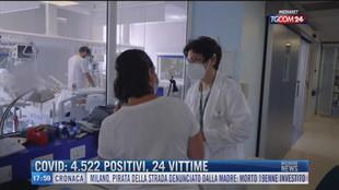 Breaking News delle 18.00  Covid: 4522 positivi, 24 vittime.