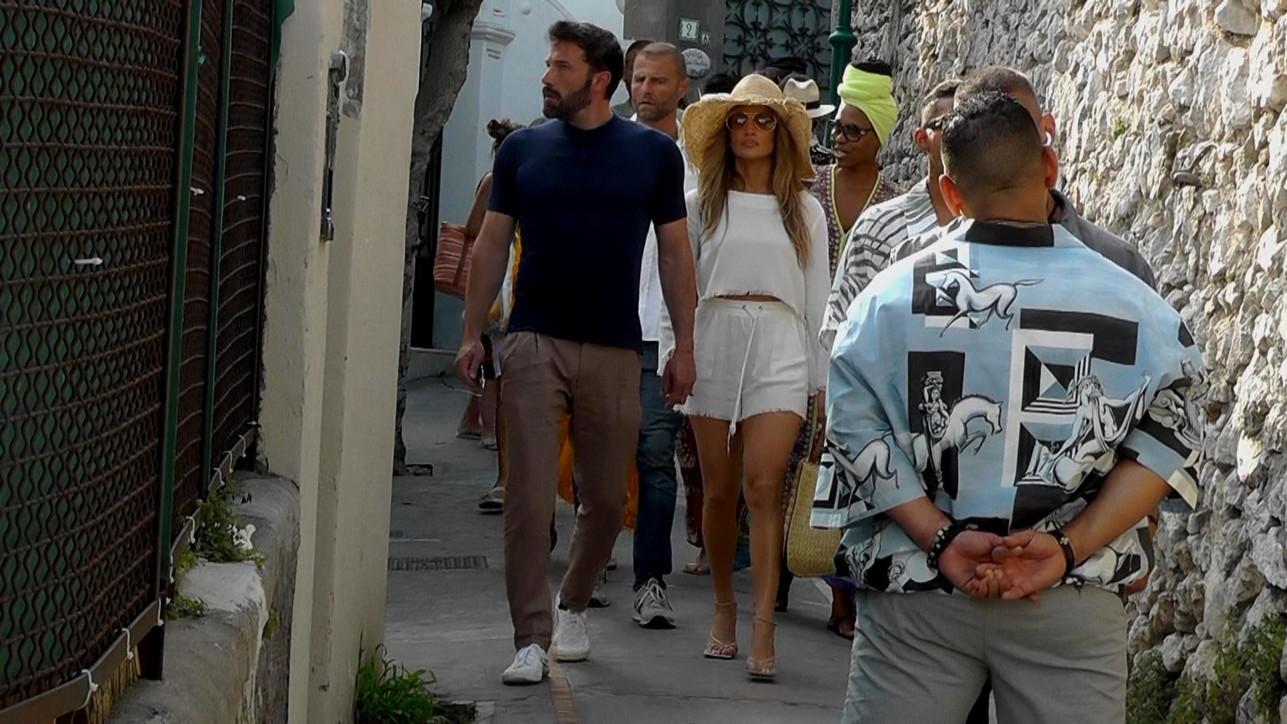 Jennifer Lopez e Ben Afflecka passeggio per Capri