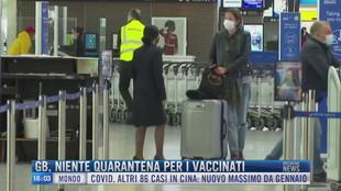 Breaking News delle 16.00 | GB, niente quarantena per i vaccinati