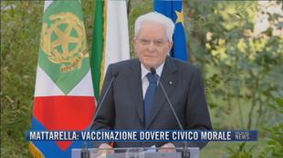Breaking News delle 21.30   Mattarella: vaccinazione dovere civico morale