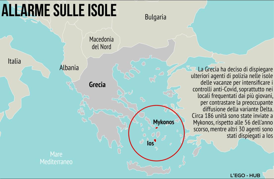 Controlli anti-Covid, la Grecia dispiega la polizia sulle isole delle vacanze