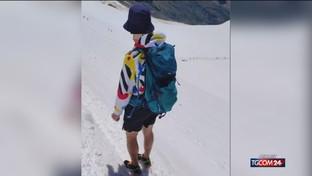 Monte Rosa, in shorts sul ghiacciao