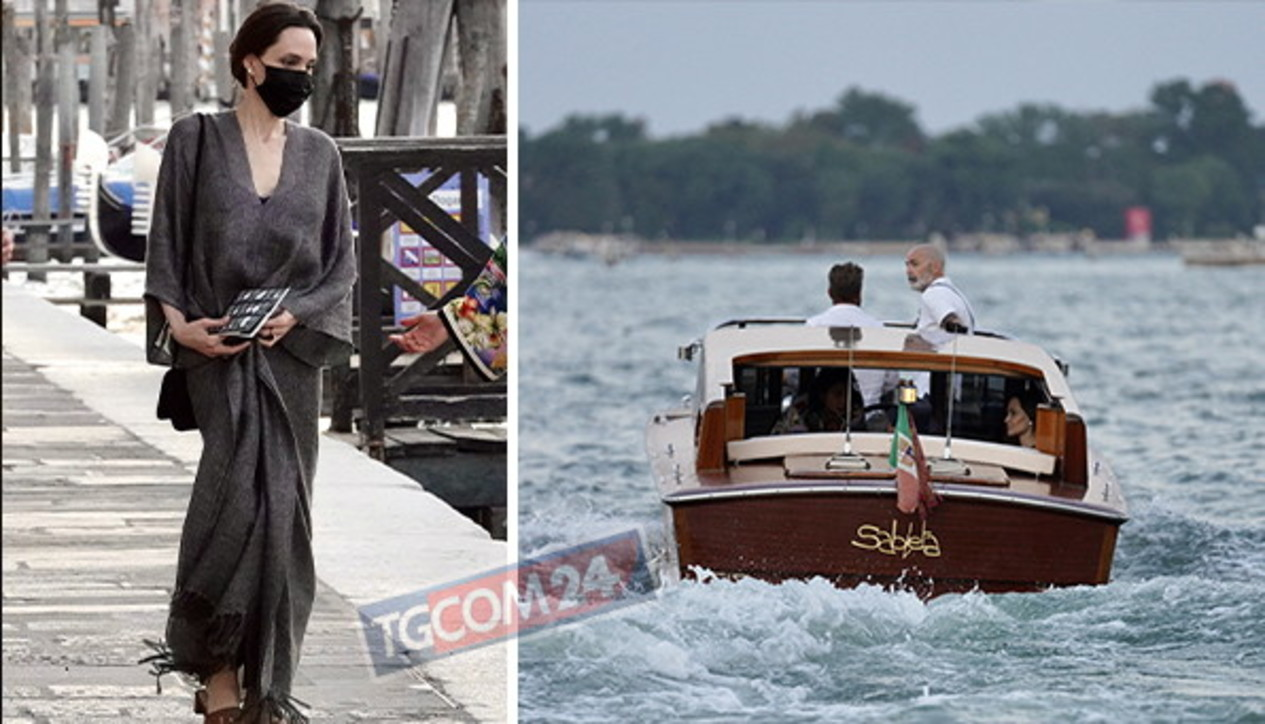 Angelina Jolie turista a Venezia