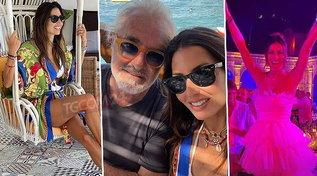 Elisabetta Gregoraci e Flavio Briatore insieme a Capri come una volta