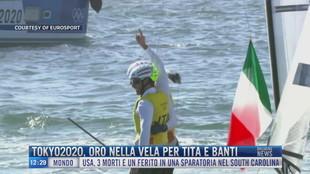 Breaking News delle 12.00 | Tokyo2020, oro nella vela per Tita e Banti
