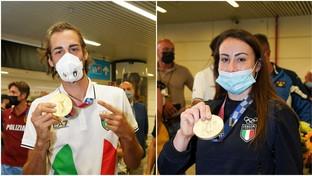 Tokyo 2020,Gianmarco Tamberi e Vanessa Ferrari rientrati in Italia