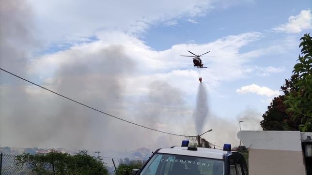 Carabinieri in azione contro gli incendi