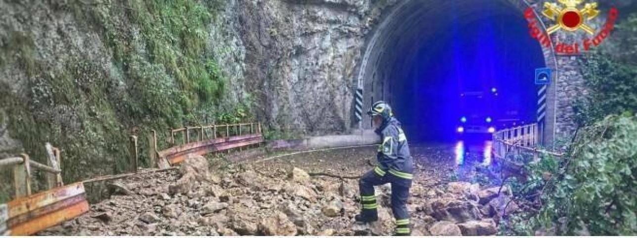 Maltempo: chiusa per frana la strada provinciale 62 nel Lecchese