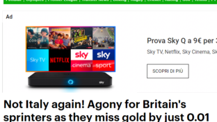 Olimpiadi, i titoli dei giornali britannici dopo la sconfitta nella staffetta 4x100