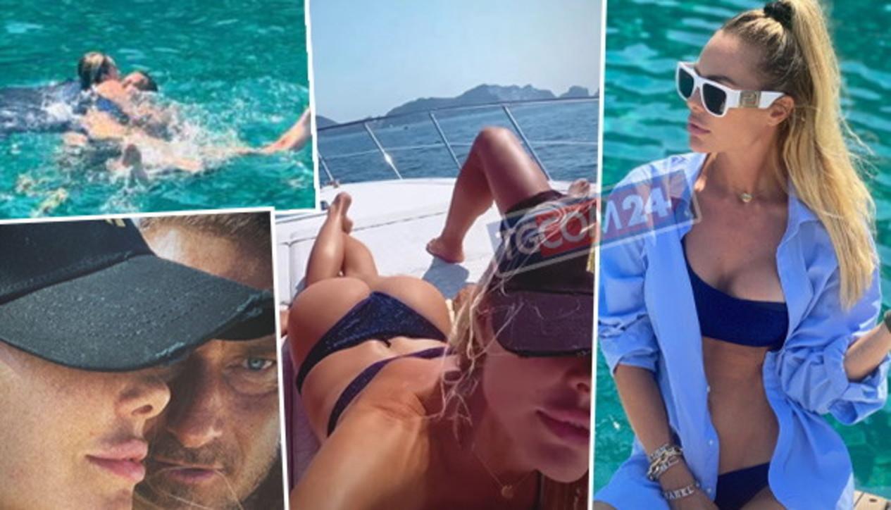 Ilary Blasi in barca tra bikini hot e baci mozzafiato con Francesco Totti