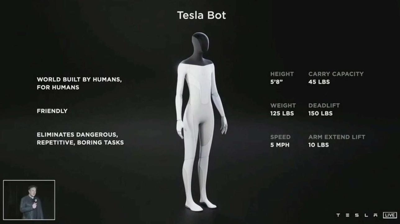 "Tesla Bot, Elon Musk annuncia l'arrivo del robot umanoide: ""Andrà al supermercato al posto nostro"""