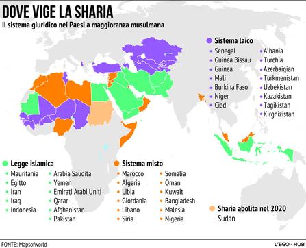 Ecco dove vige la sharia nel mondo