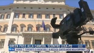 Breaking News delle 16.00 | Green pass alla Camera, scontro Lega-Pd