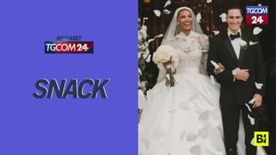 Jasmine Tookes, l'abito da sposa dell'angelo di Victoria's Secret è un sogno