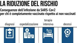 Covid e vaccini, ecco i dati sulla riduzione dei rischi