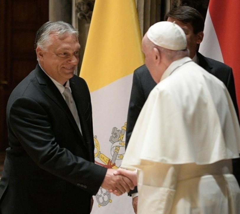 Papa Francesco incontra il premier ungherese Orbane il presidente Ader