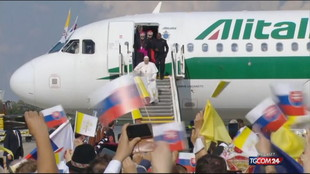 Papa Francesco è arrivato in Slovacchia