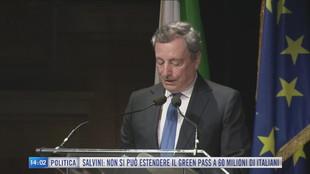 Breaking News delle 14.00 | Green pass, il governo pone la fiducia