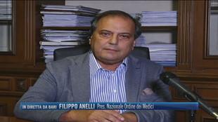 """Filippo Anelli, Pres. Nazionale Ordine dei Medici: """"In tutta  Italia sono 1500 i medici che non si sono vaccinati"""""""