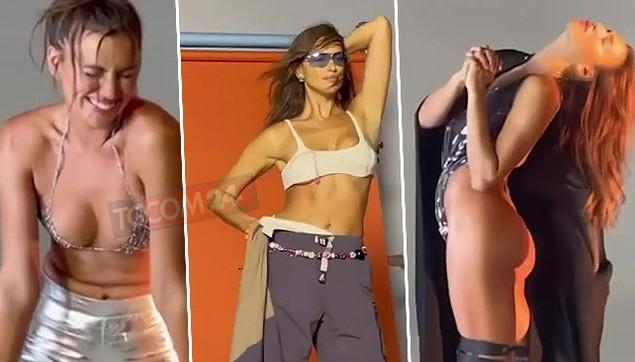 Irina Shayk in un video a luci rosse: pose hot per la modella