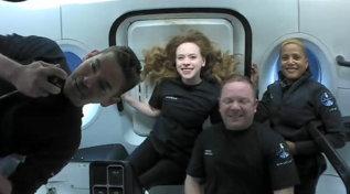 Space X, primo giorno in orbita per i quattro turisti dello spazio